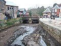 Stream bed, former leat, Exeter quay with road bridge - geograph.org.uk - 690946.jpg