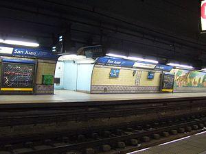 San Juan (Buenos Aires Underground) - Image: Subte San Juan