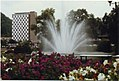 Suhl DDR. Fountain and Wohnblock. AUg 1989 (5100317380).jpg