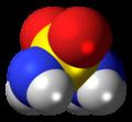 Sulfamide molecule spacefill.png