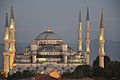 Sultan Ahmed Mosque-Blue Mosque-at dusk.JPG