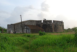 Mangalore - The Sultan Battery in Mangalore was built in 1784 by Tipu Sultan to defend the city from British warships entering the Gurupura river.