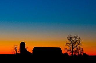 Eminence, Kentucky - Sunset in Eminence