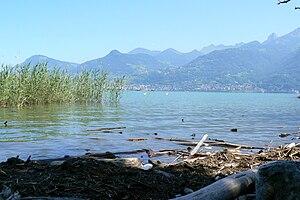 Noville, Switzerland - Lake Geneva at Noville municipality