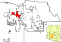 Surprise in Maricopa County map.png