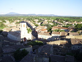 Suze-la-Rousse and Mont Ventoux seen from the  castle
