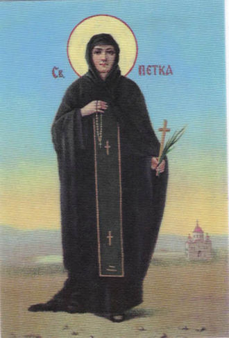 Parascheva of the Balkans - St. Paraskeva depicted on a Serb Orthodox painting