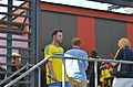 Sweden national under-21 football team, Euro 2015 celebration, entertainment 06.JPG