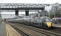 Swindon - GWR 800013+800005 arriving on up service.JPG