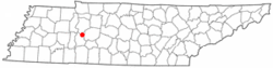 Location of Lobelville, Tennessee