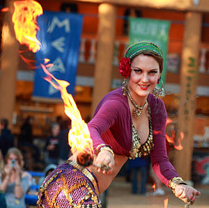 Fire headdress for fire dancers  and fire shows \