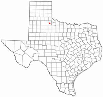 Paducah, Texas - Image: TX Map doton Paducah
