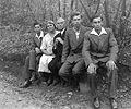 Tableau, men, woman, boy, woods Fortepan 115.jpg