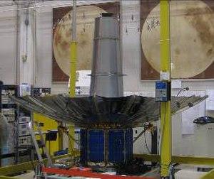 TacSat-4 - TacSat-4 with deployed UHF antenna