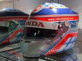 Takuma Sato 2005 helmet 2014 Honda Collection Hall.jpg