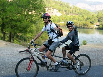 Tandem bicycle - A tandem mountain bike
