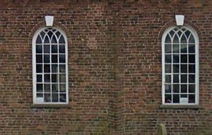 St Mary's Church, Tarleton - St Mary's windows on the North facing wall