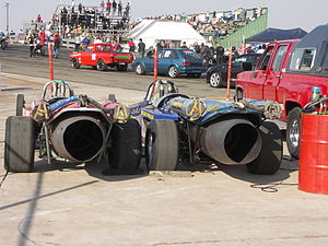 Jet car - Two jet dragsters