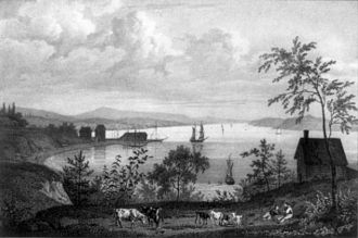 Tarrytown, New York - Illustration of Tarrytown c. 1828