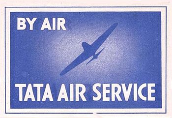 English: Airline bagagge label of Tata Sons/Ta...