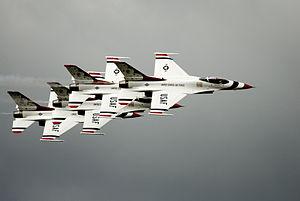 The USAF Thunderbirds flight team at the Arcti...