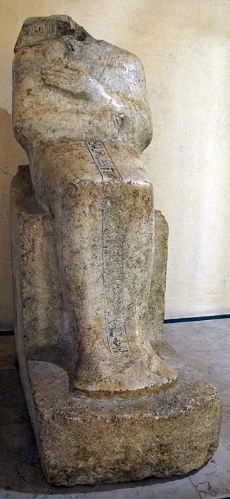 Hapuseneb - Statue of Hapuseneb at Bologna.