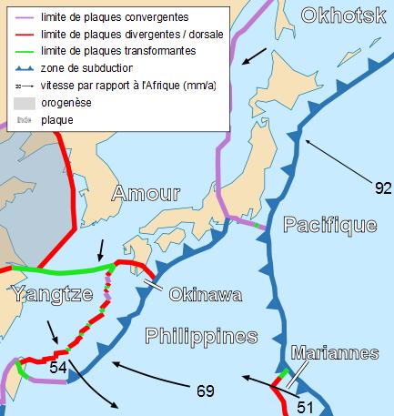 Tectonic map of Japan-fr
