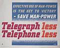 Telegraph less, Telephone less Art.IWMPST10011.jpg