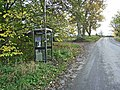 Telephone box at Netherwitton - geograph.org.uk - 1043380.jpg