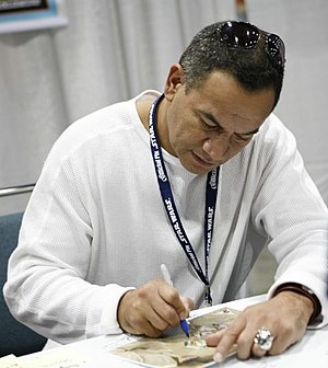 Actor Temuera Morrison at Celebration IV in 2007.