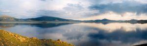 Khangai Mountains - Panorama of Lake Terkhiin Tsagaan in the Khangai Mountains