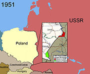 Territorial changes of Poland 1951