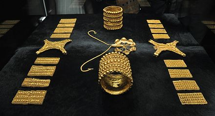 Treasure of El Carambolo, belonging to the ancient Tartessian sanctuary located 3 kilometers west of Seville.