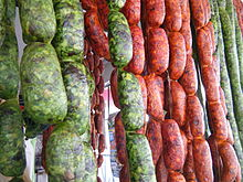 Chorizo verde (green chorizo) is an emblematic food item of the Valle ...