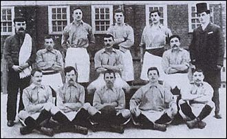 Thames Ironworks F.C. - The Ironworks team of 1897.