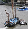 Thames barge parade - downstream - Gladys 6747c.JPG