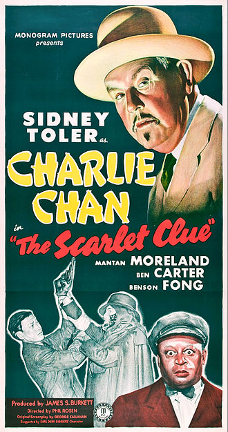 Sidney Toler - Poster for The Scarlet Clue (1945)