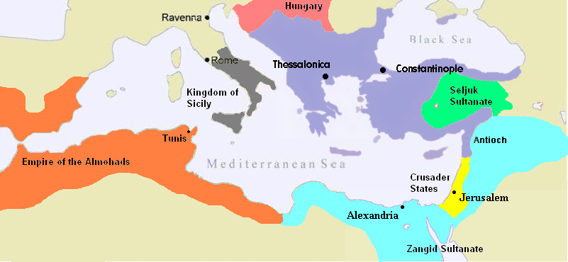 The Byzantine Empire, c.1180