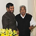 The Chief Minister of Kerala, Shri Oommen Chandy meeting the Union Minister for Consumer Affairs, Food and Public Distribution, Shri Ram Vilas Paswan to discuss issues related with PDS, in New Delhi on December 10, 2015.jpg