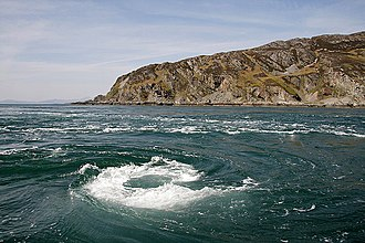 Whirlpool - The Gulf of Corryvreckan whirlpool, Scotland, is the third largest whirlpool in the world