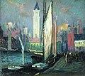 The Custom House Tower from Long Wharf, Arthur Clifton Goodwin.jpg