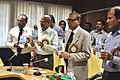 """The DGM, India Metrological Department, Dr. L.S. Rathore releasing a booklet titled """"Climate of Kolkata"""", at the Users' Meet on Disaster Management with particular reference to Cyclone in Kolkata. The ADG (M&C), PIB.jpg"""