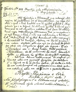Taushani family - The Declaration of Independence of the City of Elbasan