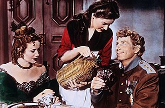 The Inspector General (film) - Elsa Lanchester, Barbara Bates, and Danny Kaye
