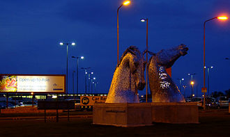 The Kelpies - The maquettes on display at Edinburgh Airport