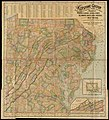 The Keystone group - a new railroad, post-office, township and district map of Pennsylvania, New Jersey, Delaware, Maryland, Virginia, and adjacent West Virginia, with distances in figures (10212389504).jpg