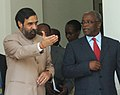 The Minister of Security, Uganda, Mr. Amama Mbabazi meeting with the Minister of State for External Affairs Shri Anand Sharma, in New Delhi on August 28, 2007.jpg