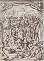The Nailing of Christ to the Cross, design for a stained glass window, by Hans Holbein the Younger.jpg