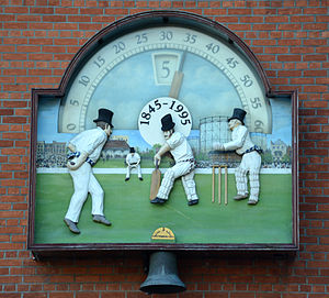 The Oval - The clock by the Members' entrance.