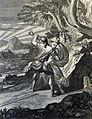 The Phillip Medhurst Picture Torah 166. Jacob wrestling with the angel. Genesis cap 32 vv 24&28. Caspar Luyken.jpg